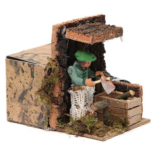 Woodsman measuring 7cm, animated nativity figurine 3