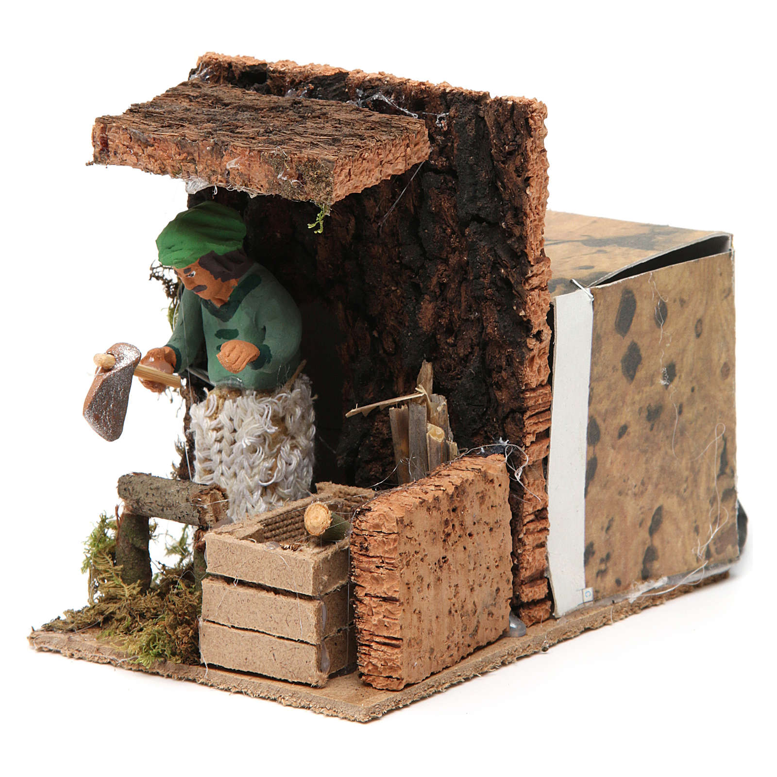 Woodsman measuring 7cm, animated nativity figurine 3