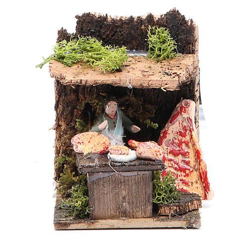 Butcher measuring 4cm, animated nativity figurine 1