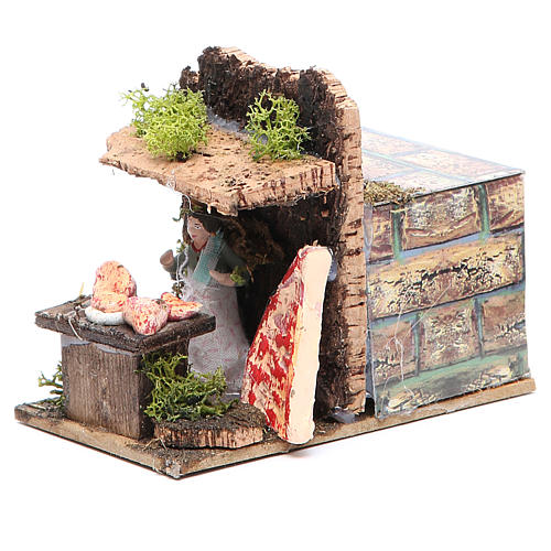 Butcher measuring 4cm, animated nativity figurine 2