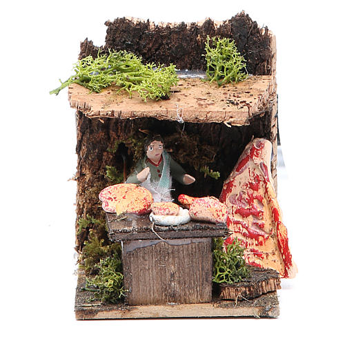 Butcher measuring 4cm, animated nativity figurine 1