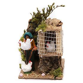 Figuras em Movimento para Presépio: Mulher com galinhas 7 cm movimento presépio