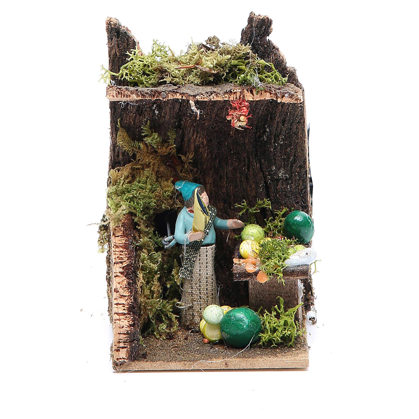 Fruit seller measuring 4cm, animated nativity figurine 3