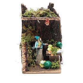 Fruit seller measuring 4cm, animated nativity figurine s1