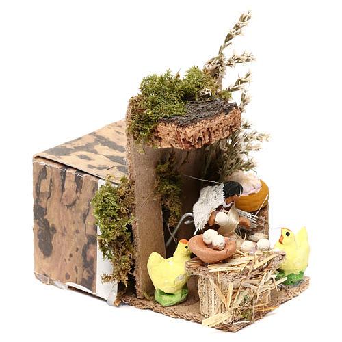Egg seller measuring 4cm, animated nativity figurine 3