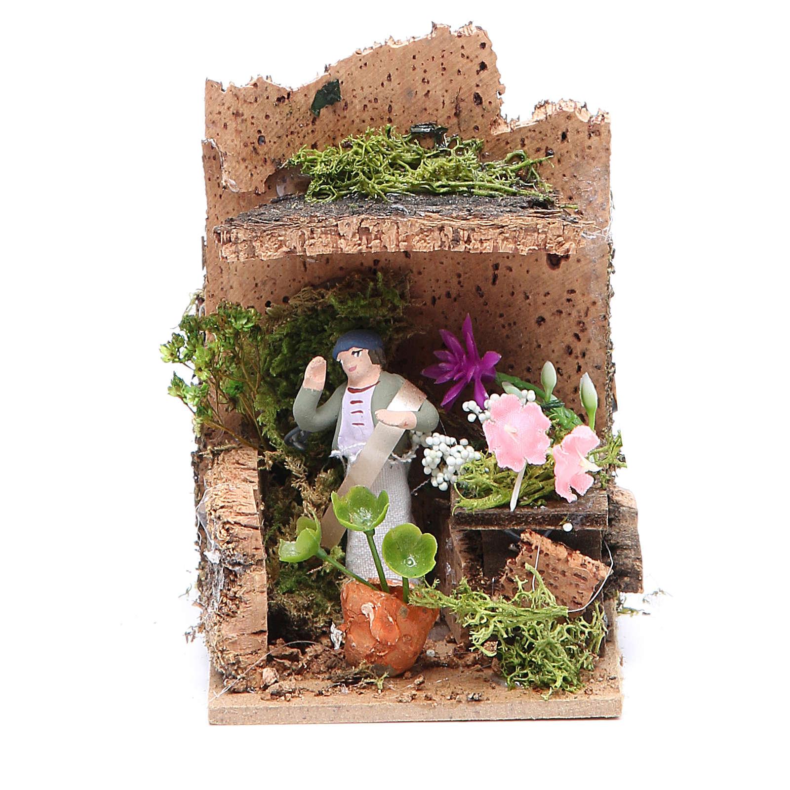 Florist measuring 4cm, animated nativity figurine 3