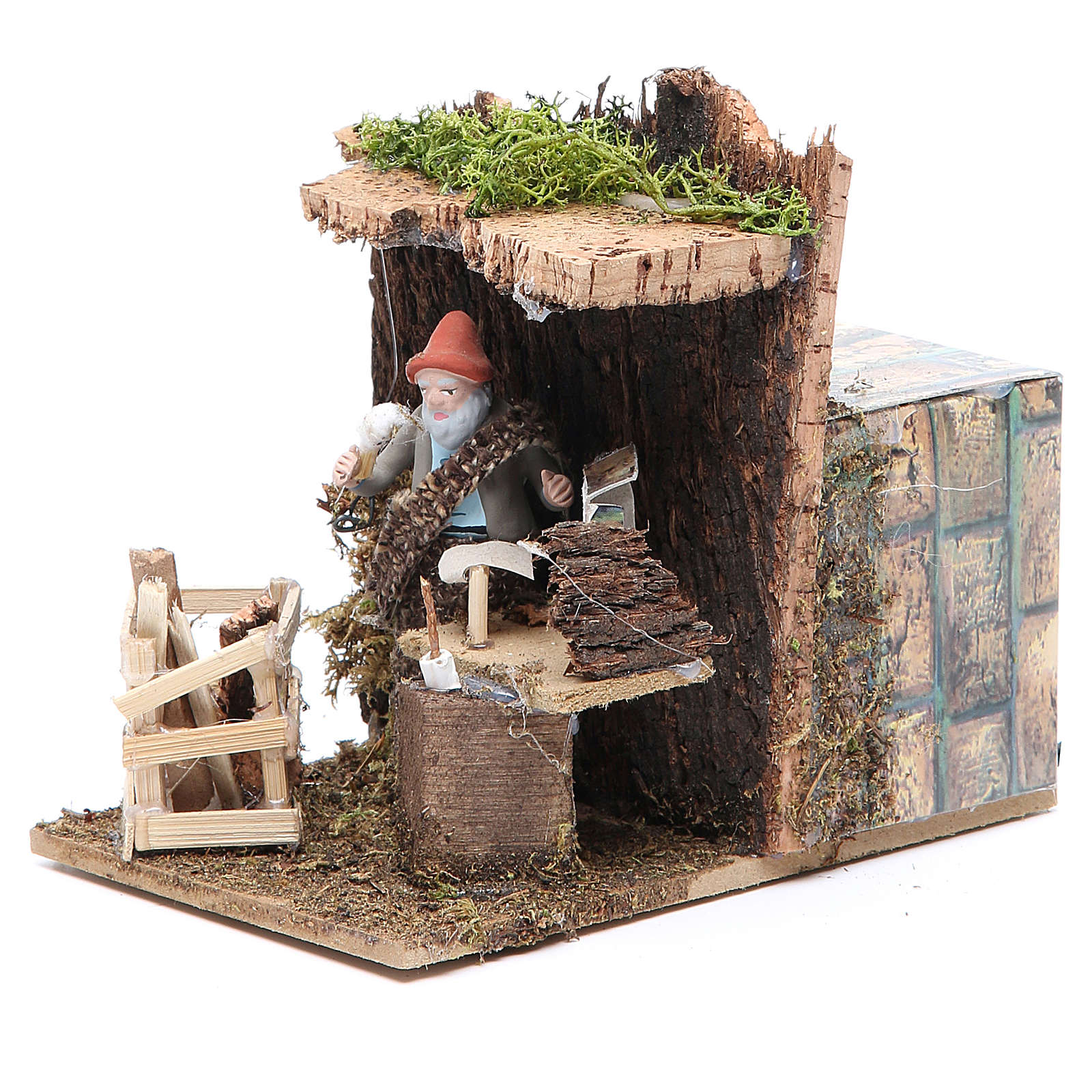 Nativity artist measuring 7cm, animated nativity figurine 3
