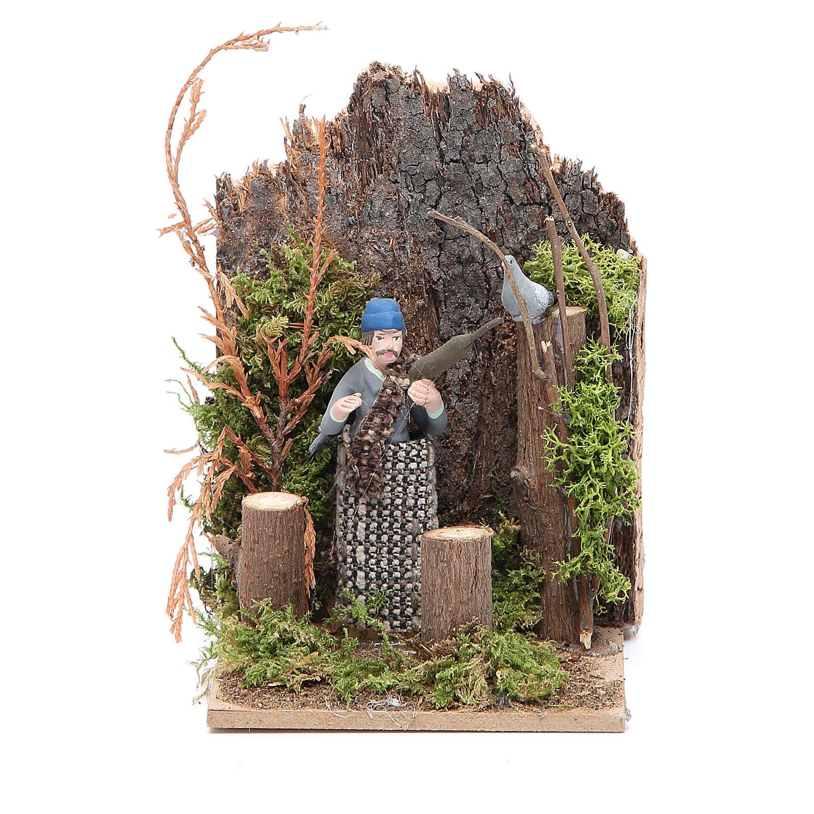 Hunter measuring 7cm, animated nativity figurine 3