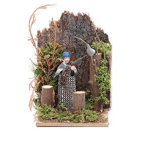 Hunter measuring 7cm, animated nativity figurine s1