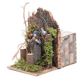 Hunter measuring 7cm, animated nativity figurine s2