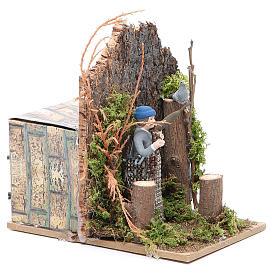 Hunter measuring 7cm, animated nativity figurine s3