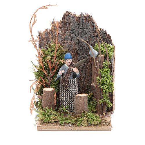Hunter measuring 7cm, animated nativity figurine 1