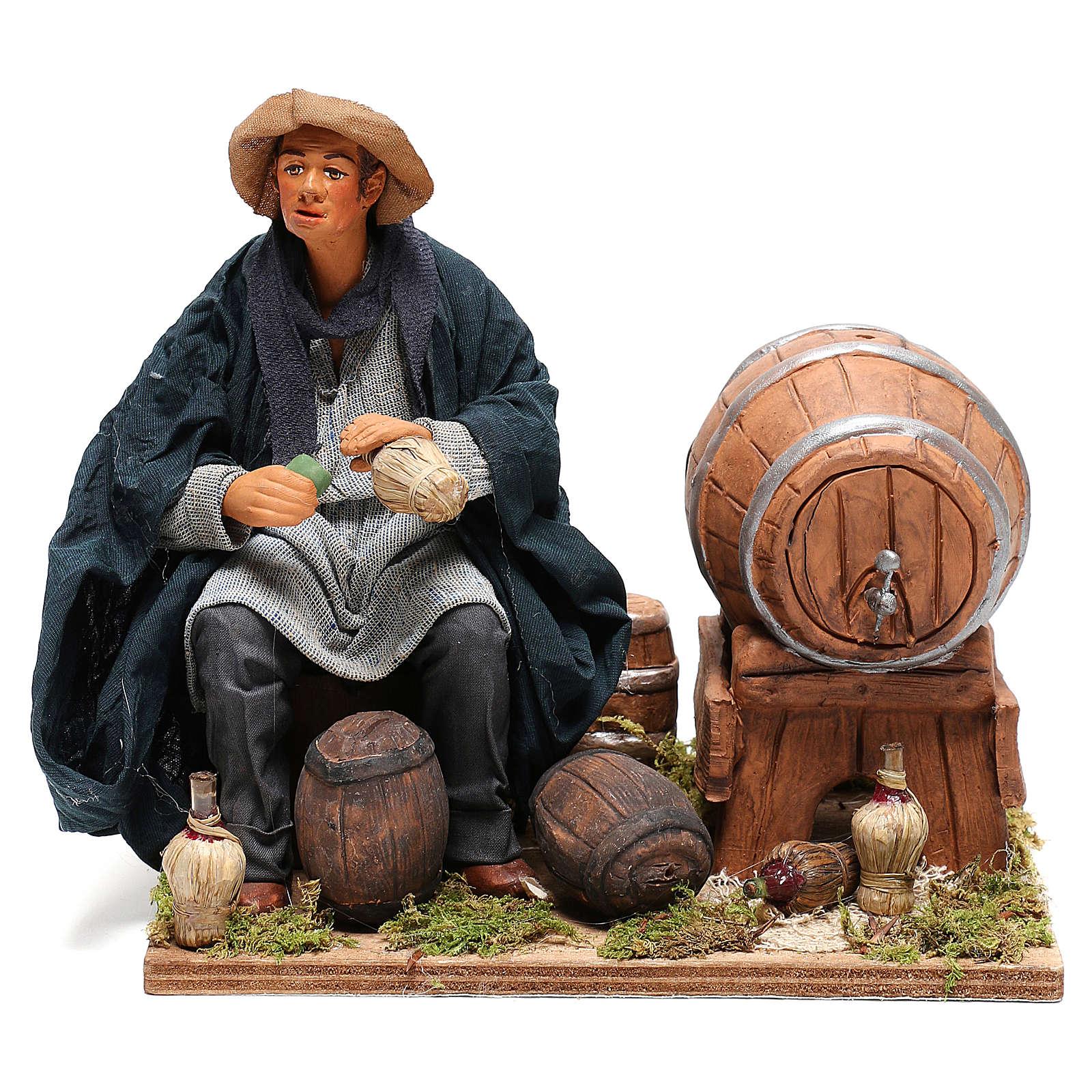 Neapolitan Nativity figurine, drunkard with 2 movements 24cm 4