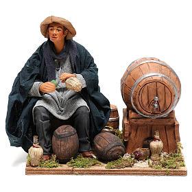 Neapolitan Nativity figurine, drunkard with 2 movements 24cm s1