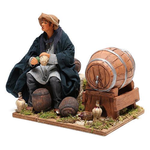 Neapolitan Nativity figurine, drunkard with 2 movements 24cm 3