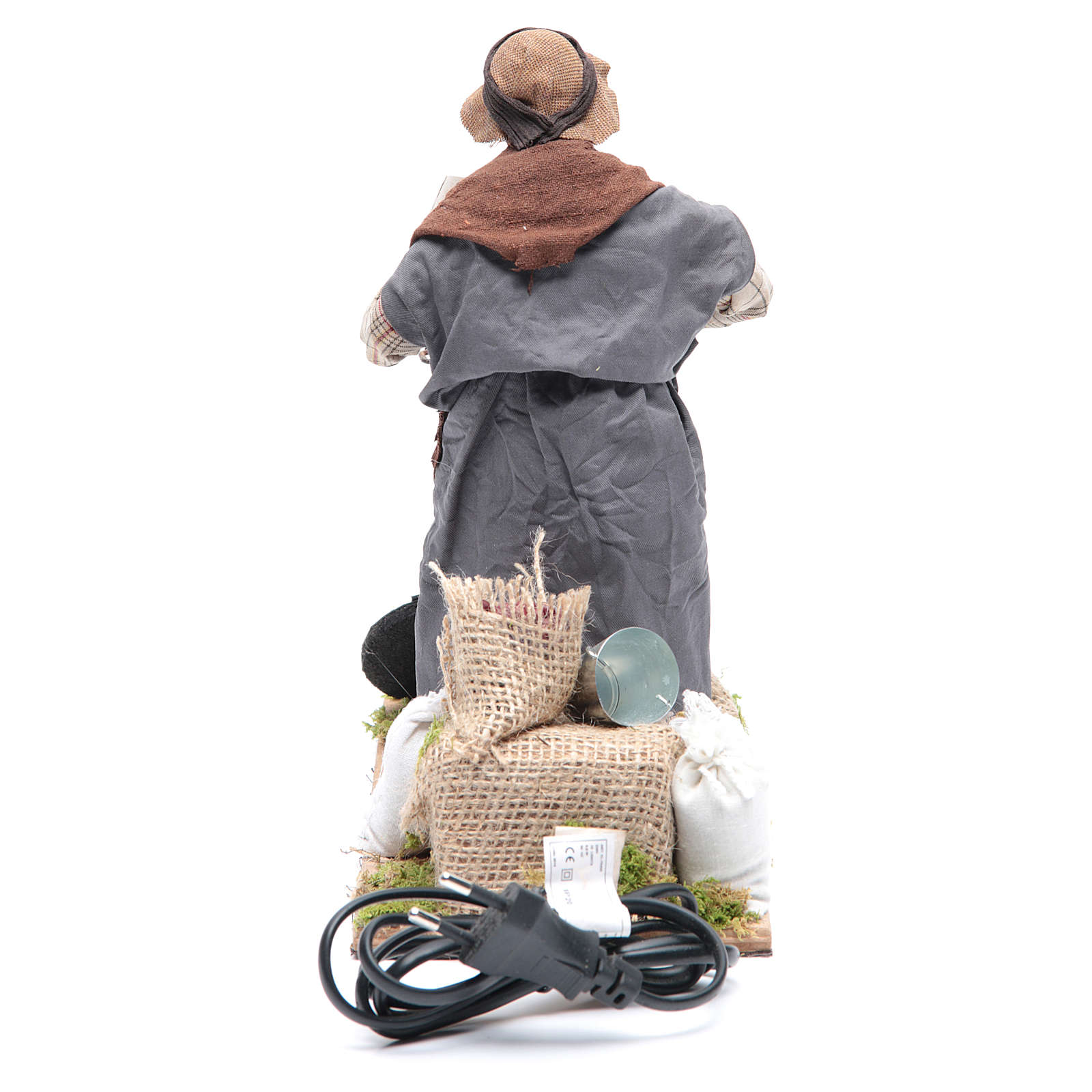 Animated Neapolitan Nativity figurine chestnut seller 24cm 4