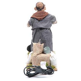Animated Neapolitan Nativity figurine chestnut seller 24cm s4