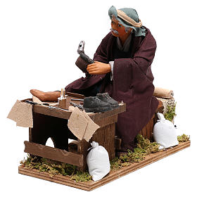 Neapolitan Nativity figurine, shoemaker with 2 movements 24cm s3