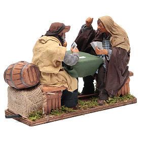 Animated Neapolitan Nativity figurines 2 card players 24cm s2