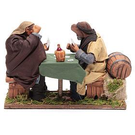 Animated Neapolitan Nativity figurines 2 card players 24cm s4