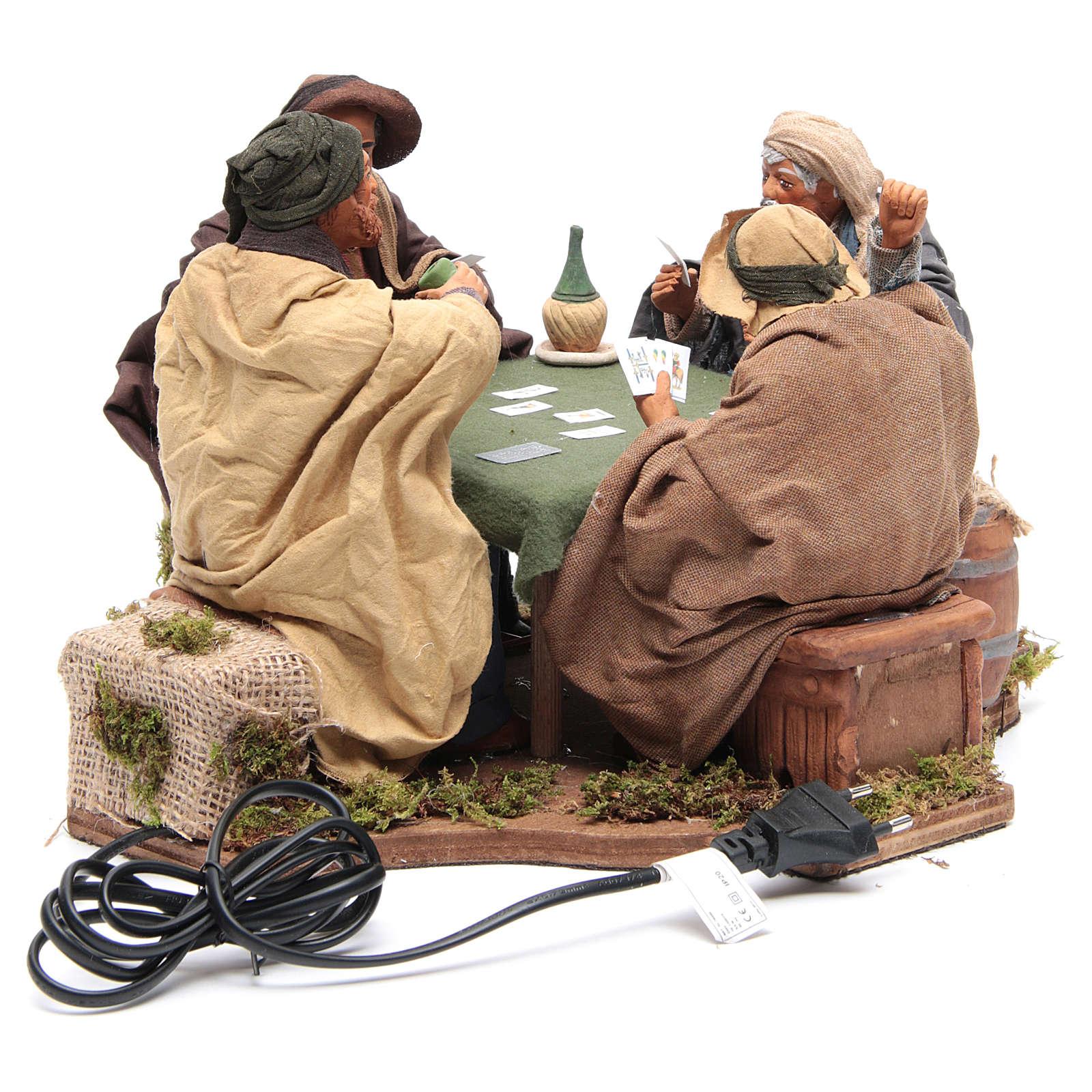 Jugadores de cartas 4 figuras 24 cm movimiento Belén Napolitano 4