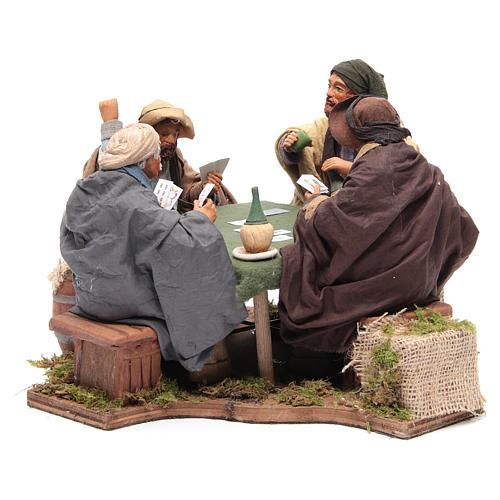 Jugadores de cartas 4 figuras 24 cm movimiento Belén Napolitano 2