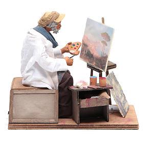 Animated Neapolitan Nativity figurine painter 24cm s1