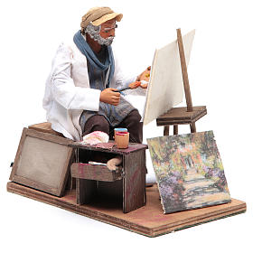 Animated Neapolitan Nativity figurine painter 24cm s2
