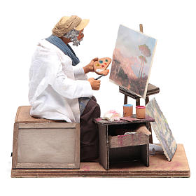 Presépio Napolitano: Pintor em movimento para presépio napolitano figuras altura média 24 cm