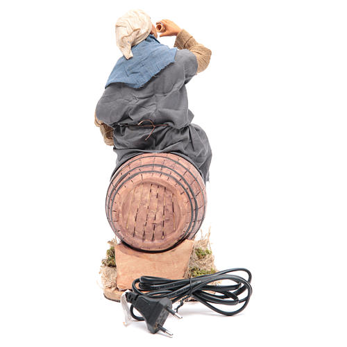 Borracho en barril 30 cm movimiento Belén  Napolitano 4