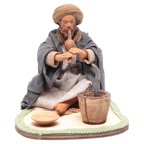 Animated Neapolitan Nativity figurine Snake charmer 24cm 1