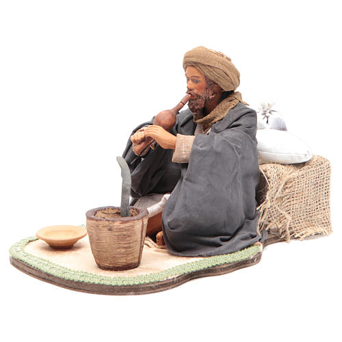 Animated Neapolitan Nativity figurine Snake charmer 24cm 2