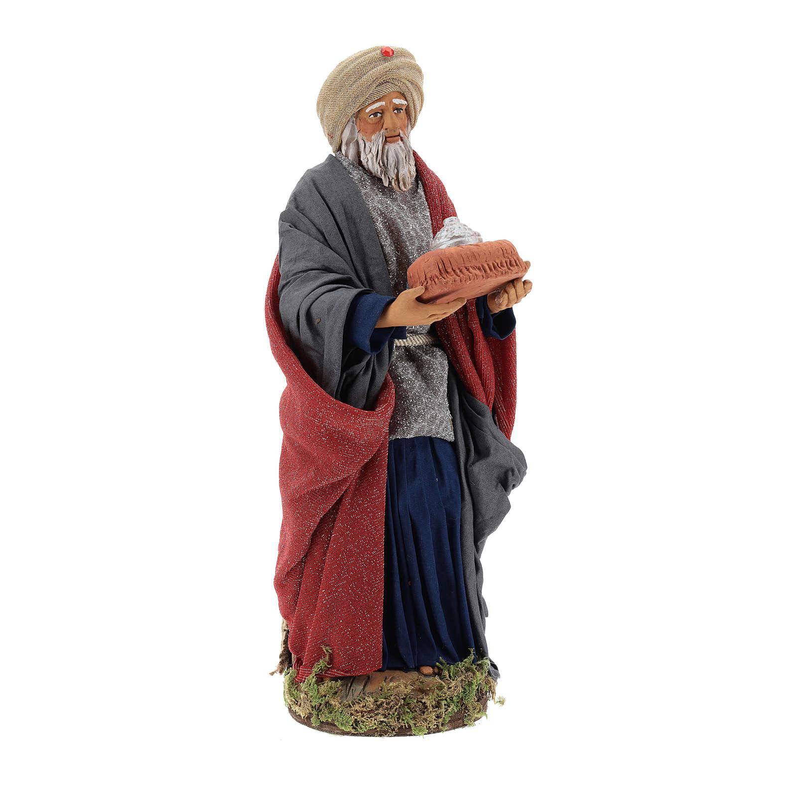 Animated Neapolitan Nativity figurine White Wise King 30cm 4