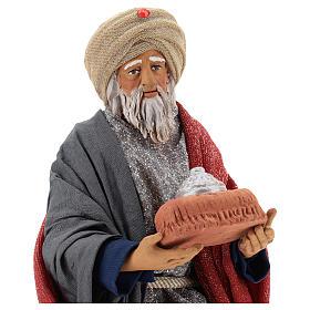 Animated Neapolitan Nativity figurine White Wise King 30cm s2