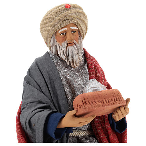 Animated Neapolitan Nativity figurine White Wise King 30cm 2