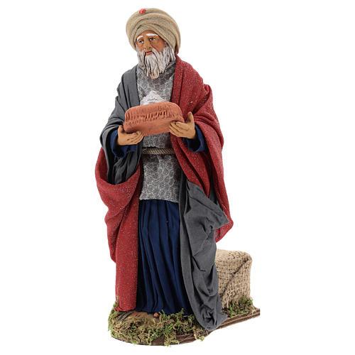 Animated Neapolitan Nativity figurine White Wise King 30cm 3