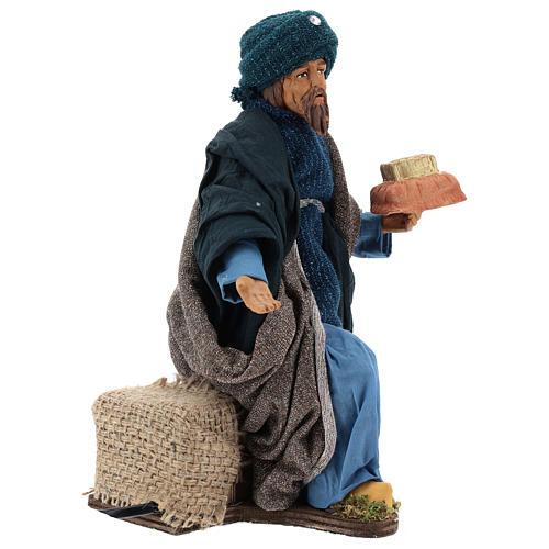 Animated Neapolitan Nativity figurine kneeling Wise King 30cm 3