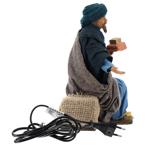 Animated Neapolitan Nativity figurine kneeling Wise King 30cm 6