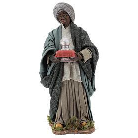 Animated Neapolitan Nativity figurine Black Wise King 30cm s1