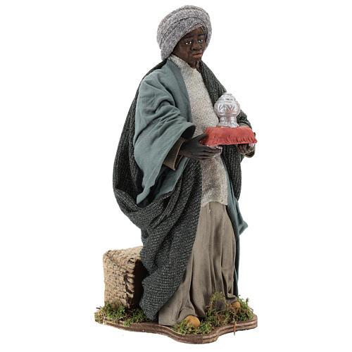 Animated Neapolitan Nativity figurine Black Wise King 30cm 4
