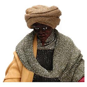 Animated Neapolitan Nativity figurine Black Wise King 30cm s2