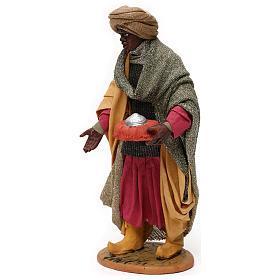 Animated Neapolitan Nativity figurine Black Wise King 30cm s3