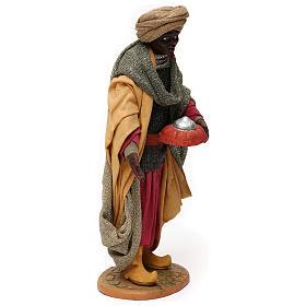Animated Neapolitan Nativity figurine Black Wise King 30cm s4