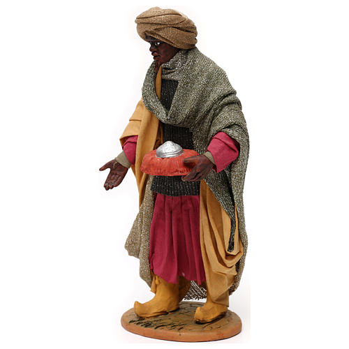 Animated Neapolitan Nativity figurine Black Wise King 30cm 3