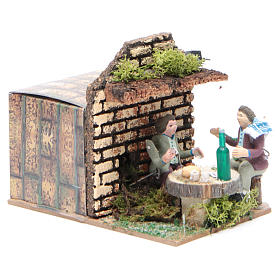 Setting with two shepherds measuring 7cm, animated nativity figurine s3