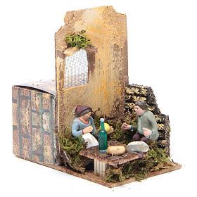 Scene with two shepherds measuring 7cm, animated nativity figurine s3