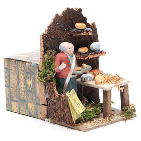 Man selling cheese measuring 10cm, animated nativity figurine s3