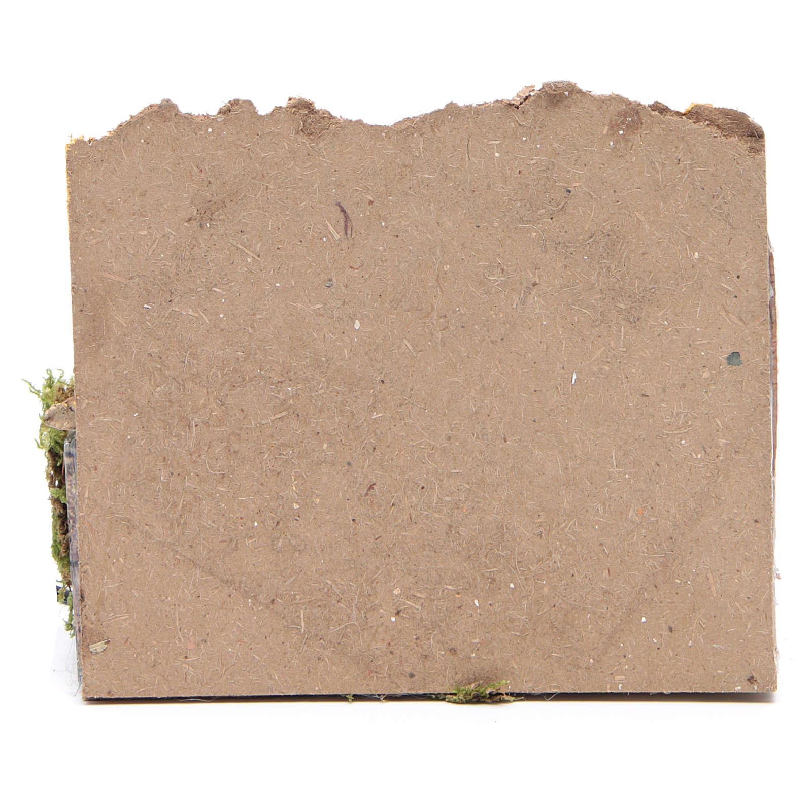 Pastor com lenha 7 cm movimento presépio 3