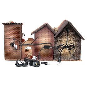 Nativity stable with holy family 12cm, animated measuring 30x60x35cm s4
