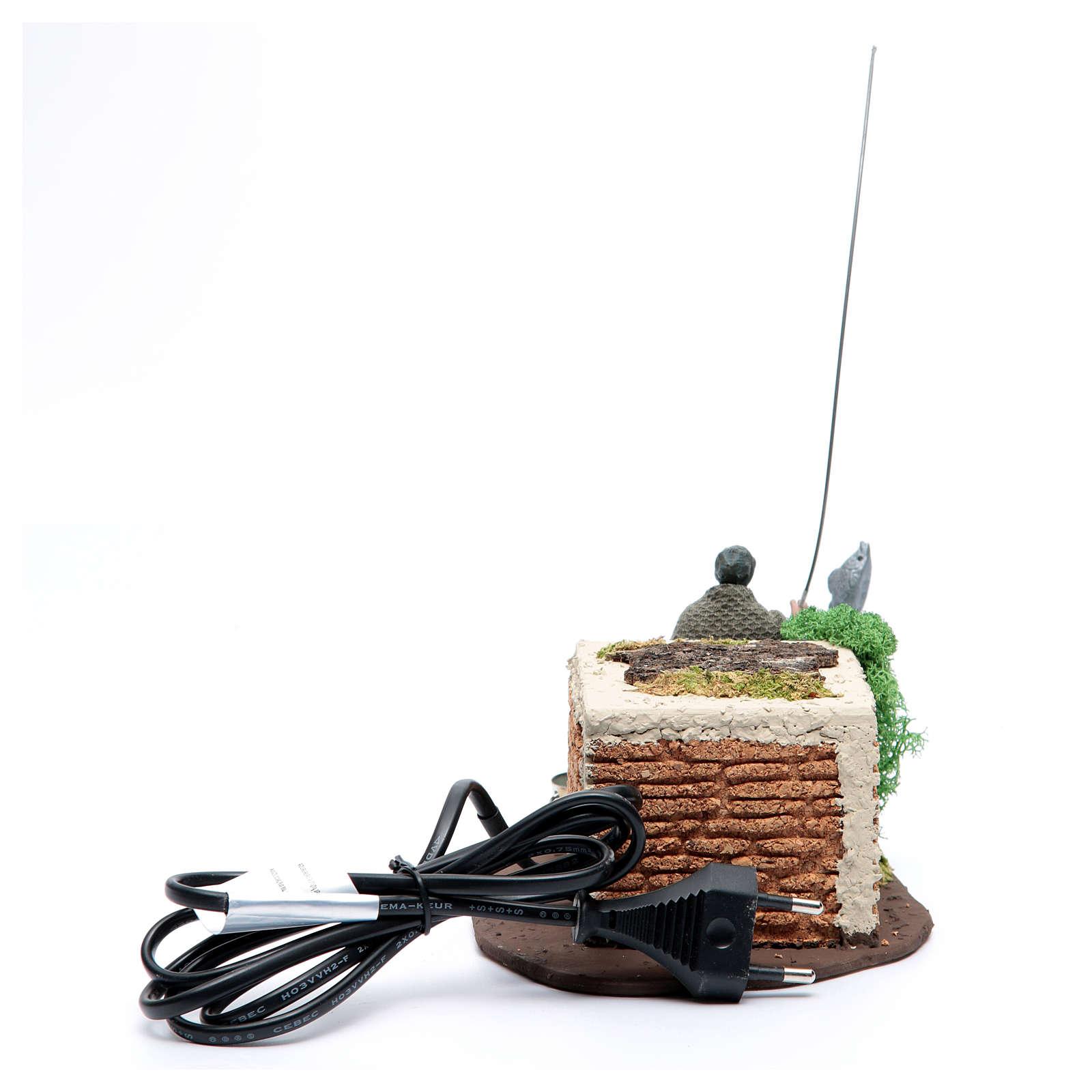 Pescatore in piedi 10 cm in pvc con movimento 3
